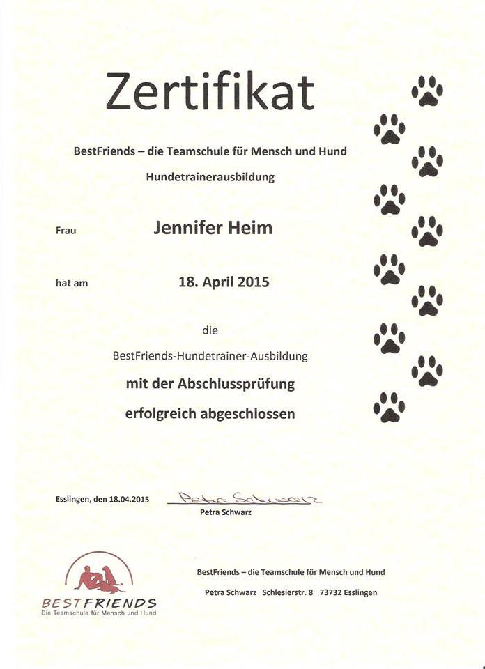 Hundetrainer Zertifikat